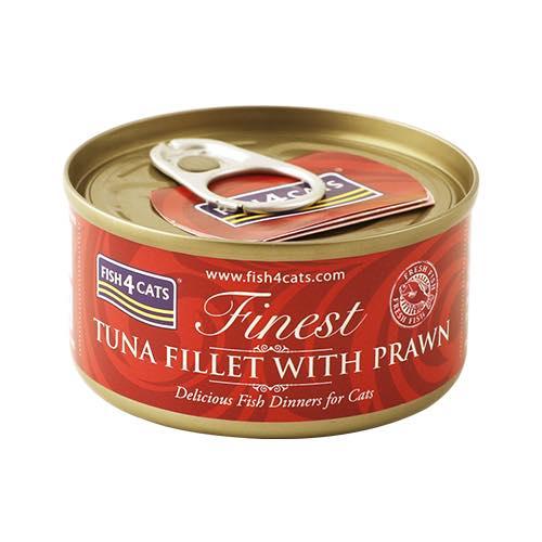 フィッシュ4 キャット FISH4CATS 缶詰「ツナ&エビ」TUNA FILLET WITH PRAWN