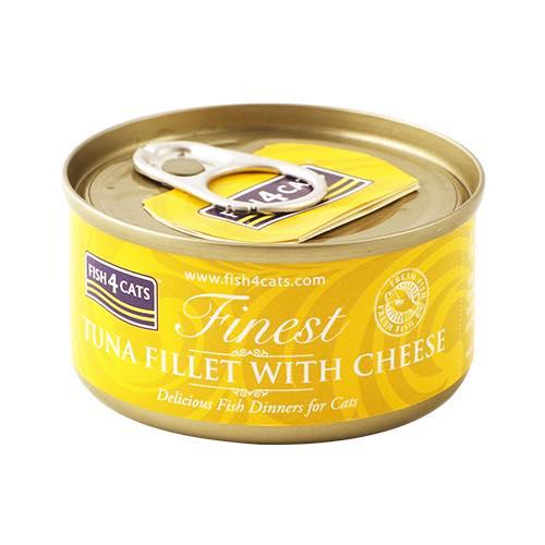 フィッシュ4 キャット FISH4CATS 缶詰「ツナ&チーズ」TUNA FILLET WITH CHEESE