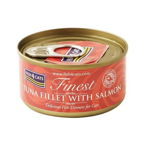 フィッシュ4 キャット FISH4CATS 缶詰「ツナ&サーモン」TUNA FILLET WITH SALMON