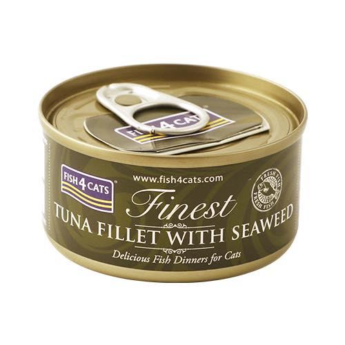 フィッシュ4 キャット FISH4CATS 缶詰「ツナ&海藻」TUNA FILLET WITH SEA WEED