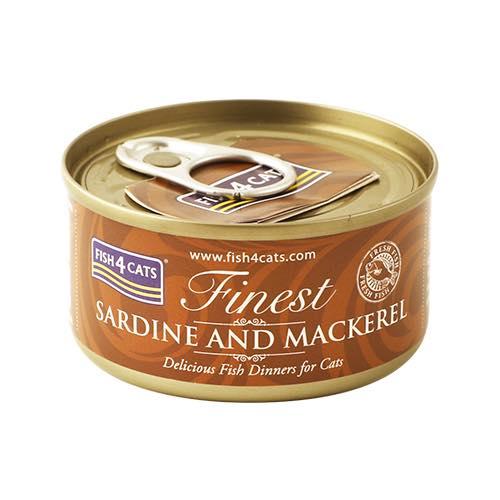 フィッシュ4 キャット FISH4CATS 缶詰「イワシ&サバ」SARDINE AND MACKEREL