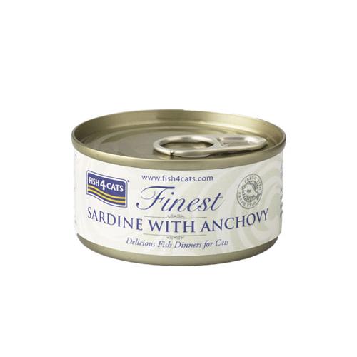 フィッシュ4 キャット FISH4CATS 缶詰「イワシ&アンチョビ」SARDINE WITH ANCHOVY