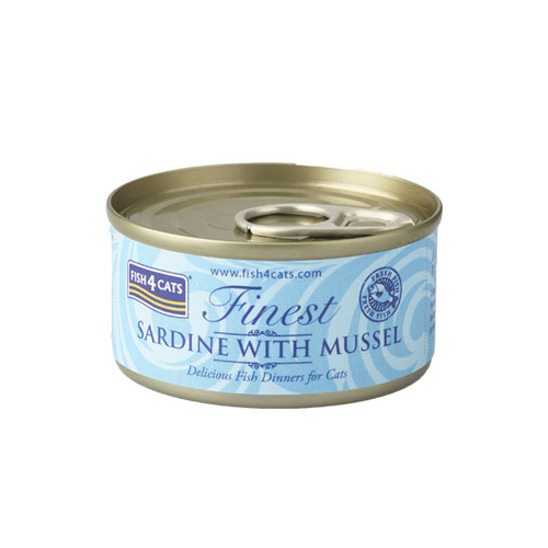 フィッシュ4 キャット FISH4CATS 缶詰「イワシ&緑イ貝」SARDINE WITH MUSSEL