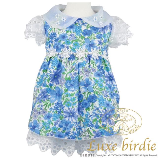 リュクスバーディ Luxe birdie フルールワンピース BLUE