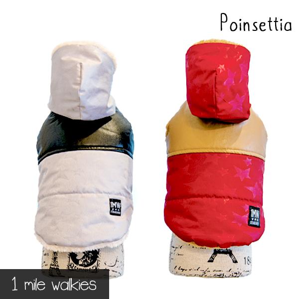 ワンマイルウォーキーズ 1 mile walkies ポインセチア Poinsettia Winter Vest