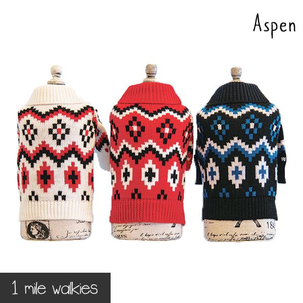 ワンマイルウォーキーズ 1 mile walkies アスペン Aspen Nordic Sweater