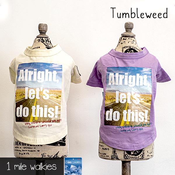 ワンマイルウォーキーズ 1 mile walkies タンブルウィード Tumbleweed Photo Printed T-shirt