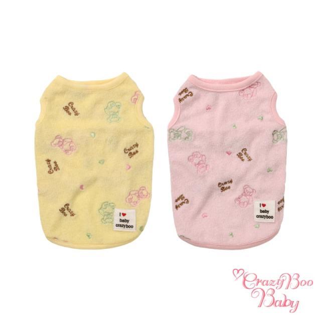 クレイジーブー CRAZYBOO Baby ベア刺繍 パイル タンクトップ