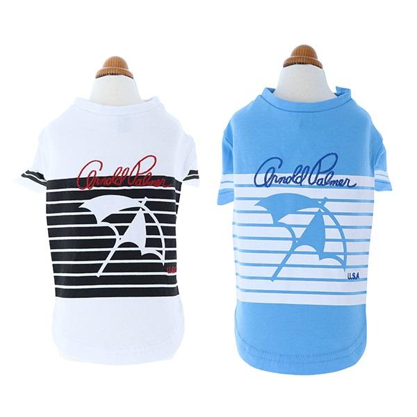 アーノルドパーマー arnold palmer ボーダーロゴTシャツ