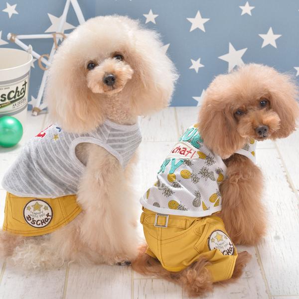 ディーズチャット D's CHAT D's デニムパンツ【小型犬 犬服 ウエア ロンパース カバーオール つなぎ パンツ カジュアル】