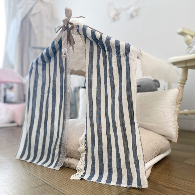 ルイスドッグ louisdog Peekaboo Couture/Linen Stripes