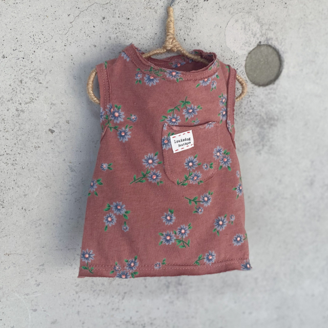 ルイスドッグ louisdog Floral Sleeveless Pocket Tee