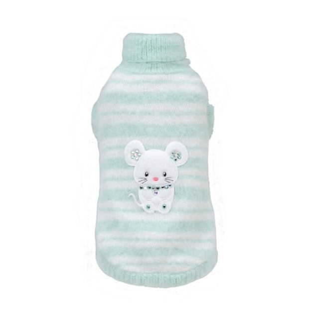 フォーペッツオンリー for pets only BABY NUVOLA PULL BABY BLUE ANGORA PULL (AI2020-P12)