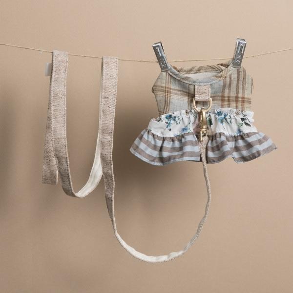 ルイスドッグ louisdog Tweed Frill Harness Set