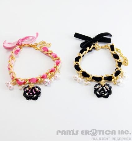 パリエロ PARIERO Velvet Chain Necklace