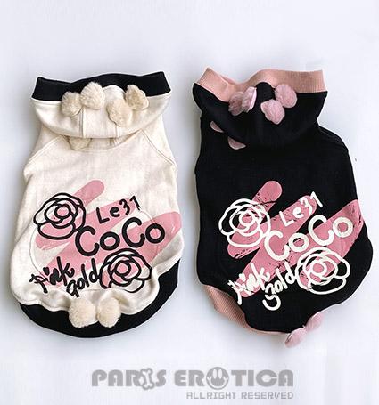 パリエロ PARIERO Camellia Zip-up Hoodie
