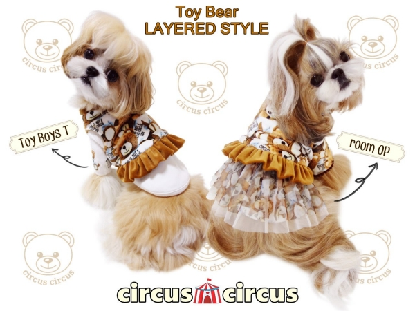 サーカスサーカス circus circus Toy Bear cropped vest(CCW-0190)