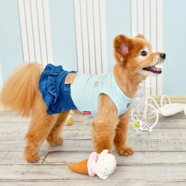 クレイジーブー CRAZYBOO フラミンゴワンピ【小型犬 犬服 ウエア ワンピース ドレス カジュアル】