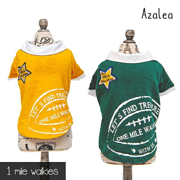 ワンマイルウォーキーズ 1 mile walkies アザレア zalea Printed Polo shirt