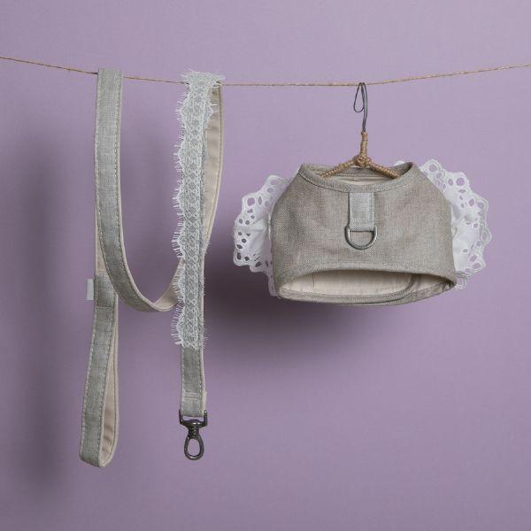 ルイスドッグ louisdog Natural Linen Harness Set