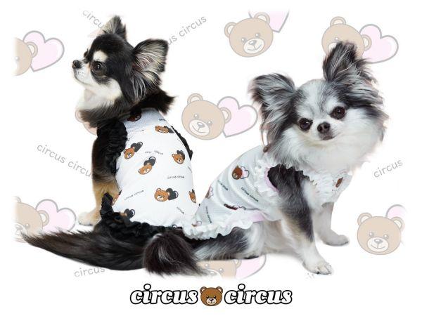 サーカスサーカス circus circus Heart Bear メッシュフリルタンク【涼感加工】(CCW-0202)