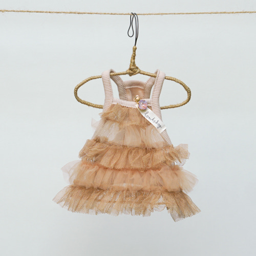 ルイスドッグ louisdog Cotton Mesh Mini Dress