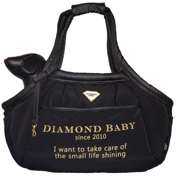 ダイヤモンドベイビー Diamond Baby マシュマロ イージー キャリーバッグ ブラックファイユ(DBロゴプリント)