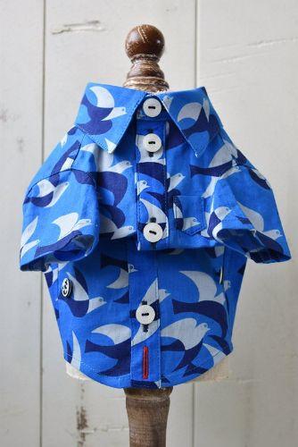 プエルト PUERTO 青の鳥 半袖シャツ