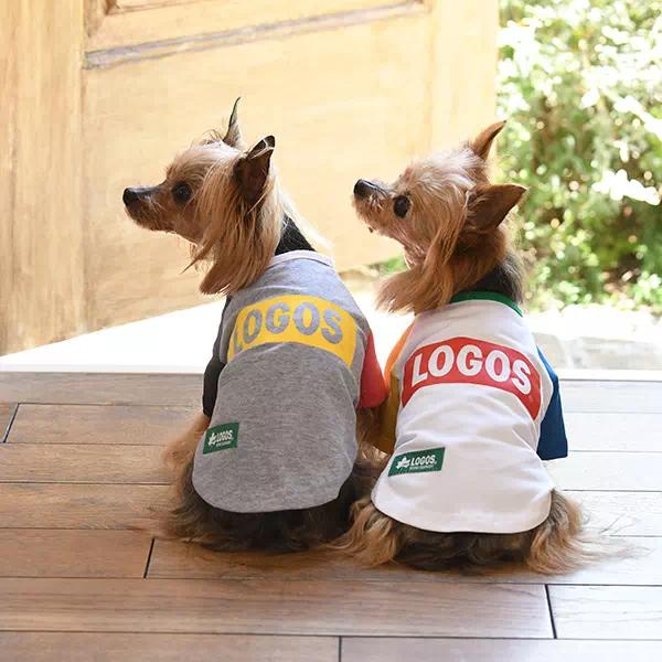 ロゴス LOGOS ボックス ロゴ Tシャツ