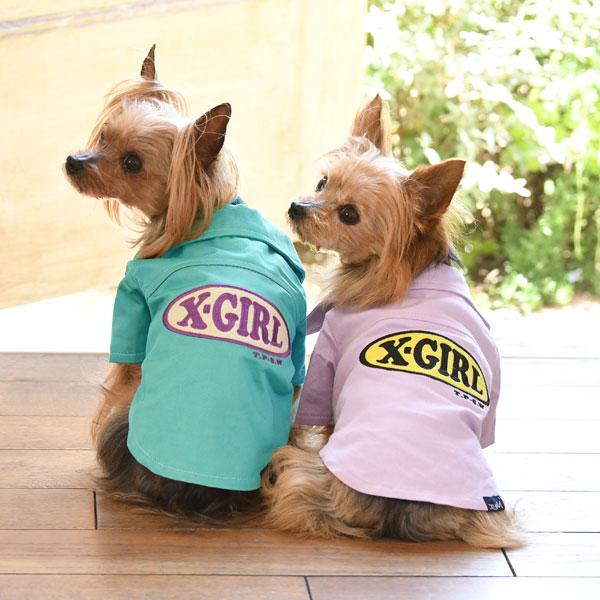エックスガール X-girl オープンカラー シャツ