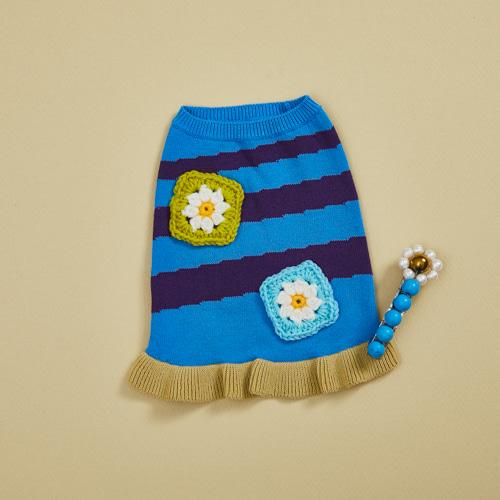 ルイスドッグ louisdog Tomboy Sweater/Crochet Flower