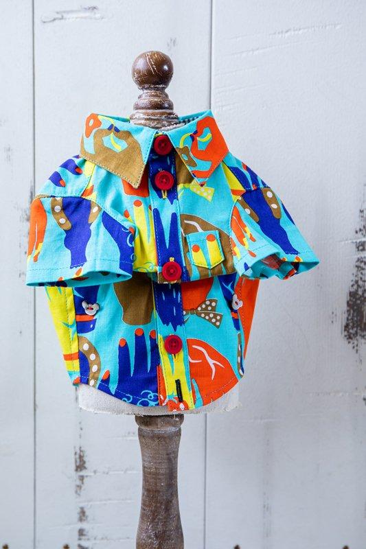 プエルト PUERTO アニマルハンド半袖シャツ by makumo textile