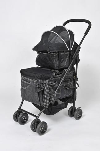 Mother Cart(マザーカート)【着替用】アジリティー ドットパターンデニムホワイトステッチ 上段