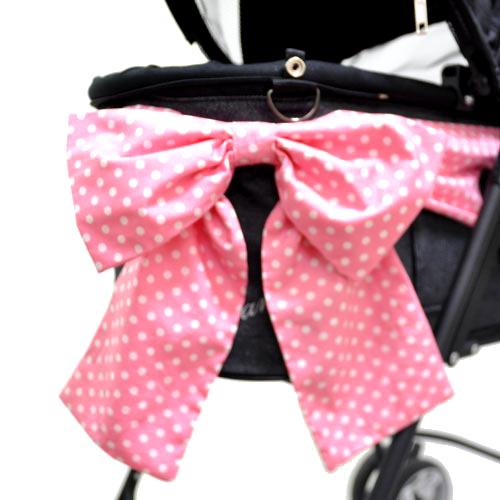 天使のカート シャンアンジェ リボン/Dot PinkWhite(ホックタイプ)