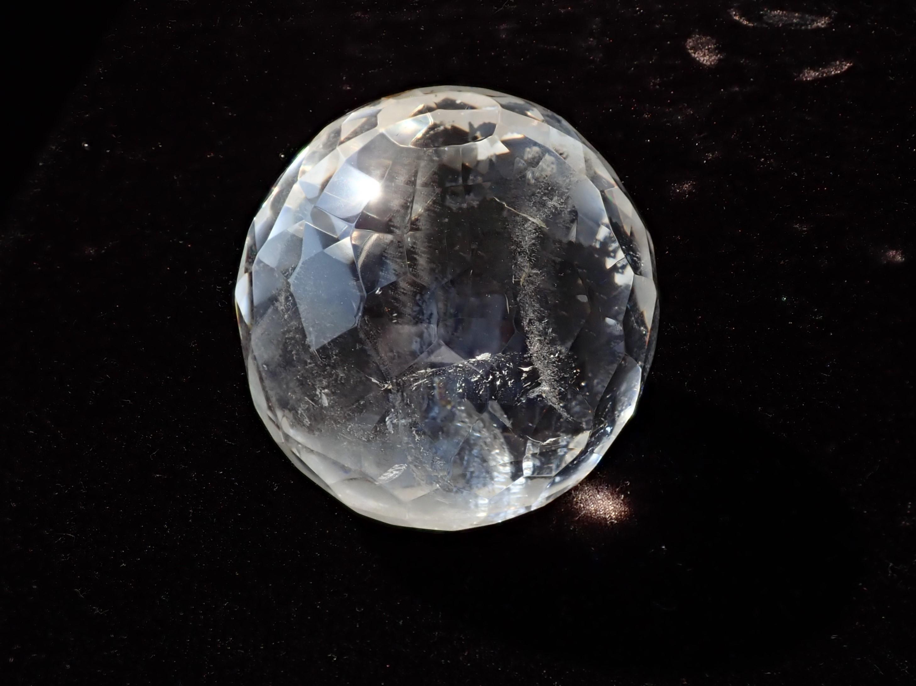 水晶ミラーボールカット