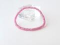 SB0598 ピンクサファイア ボタンビーズ ブレスレット