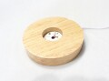 ZK0009 【原石や丸玉などにおすすめ】 LED木製台座(USB電源) ☆各種セール・ポイント付与対象外☆