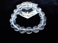 CC0532 ガネーシュヒマール産 ヒマラヤ水晶 12mm(17粒) ブレスレット