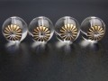 TB0005 彫刻ビーズ 菊紋 水晶 14mm×4粒
