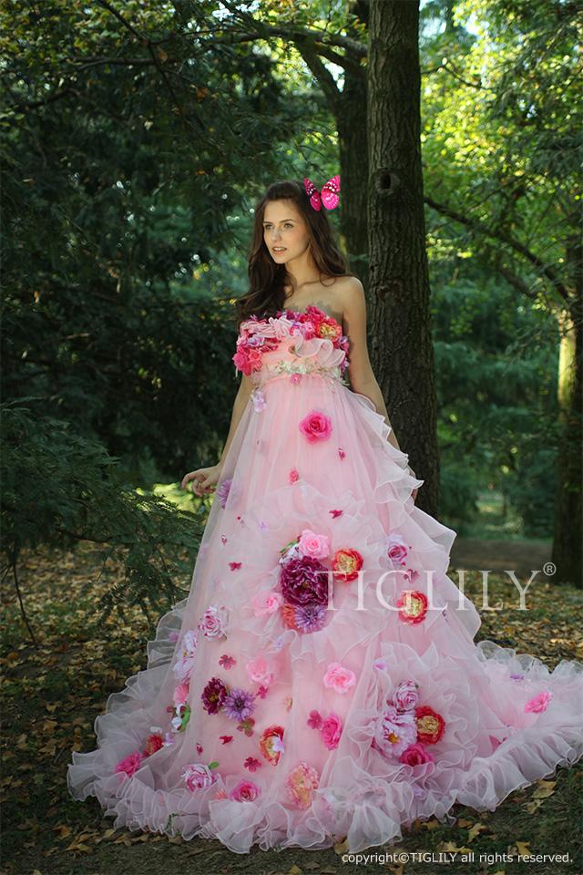 【TIGLILY】ウェディングドレス_カラードレス(c088)