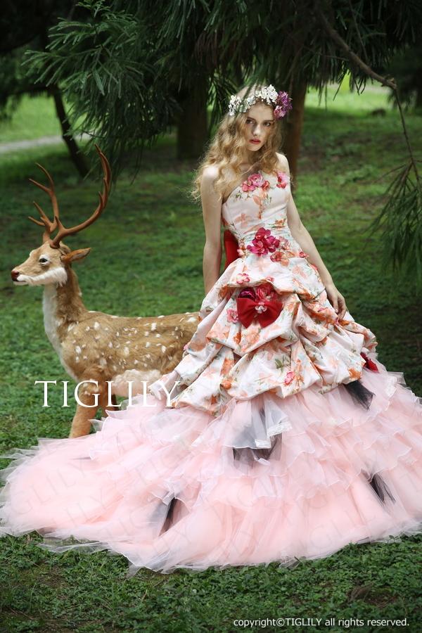 【TIGLILY】ウェディングドレス_カラードレス(c135)