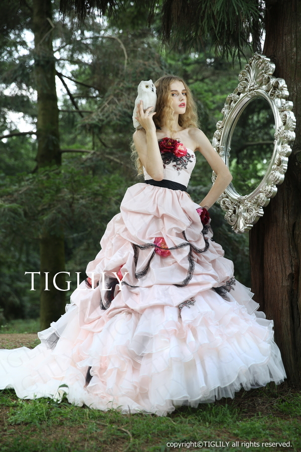 【TIGLILY】ウェディングドレス_カラードレス(c137)    119,800円(税別)
