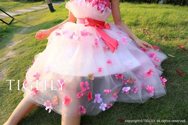 TIGLILY カラードレス c089