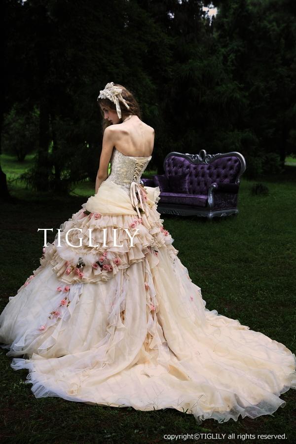 TIGLILY カラードレス プリンセス アンティーク c120