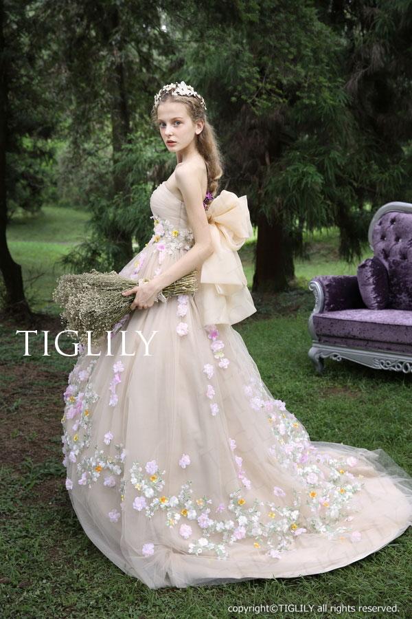 c125 TIGLILY カラードレス