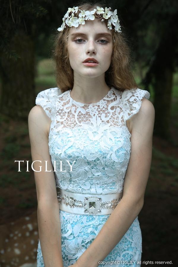 TIGLILY カラードレス 3way ブルー
