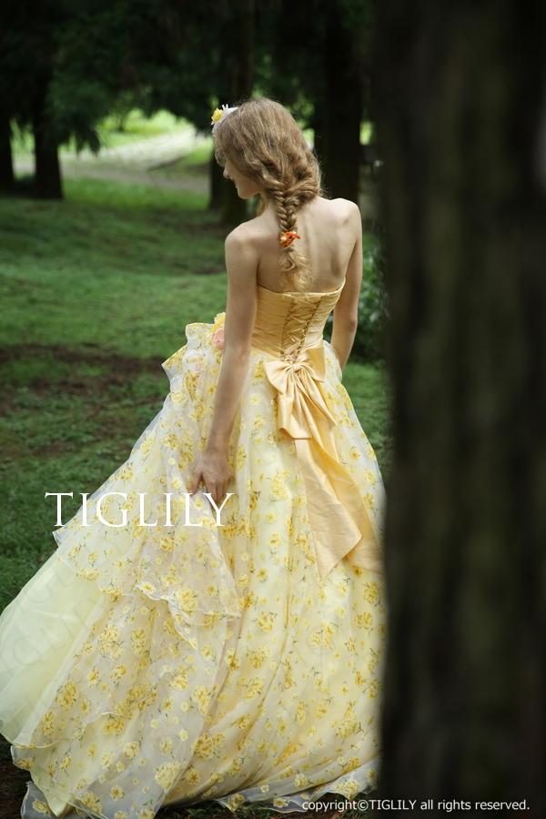 TIGLILY カラードレス イエロー c140