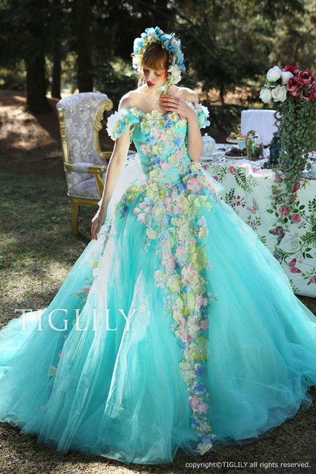 c156 TIGLILY グレイス Grace カラードレス