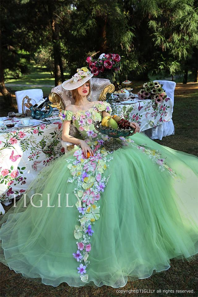 c157 ペイジ Paige TIGLILY ティグリリィ グリーン 緑