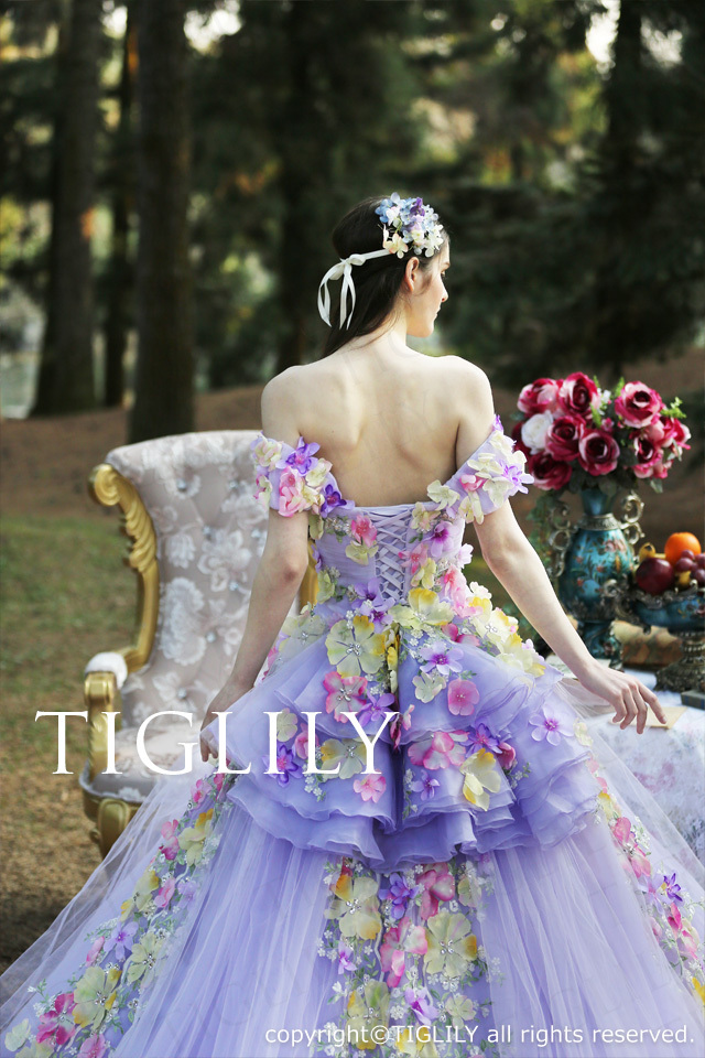 TIGLILY カラードレス c158